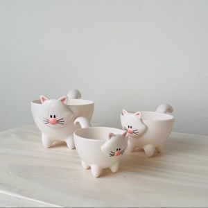Joie Meow Stackable Measuring Cups Set - WHITE